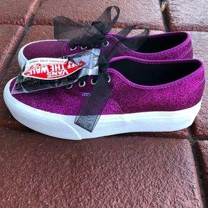 Vans Glitter Platform shoes.